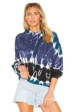 Young, Fabulous & Broke Lita Sweatshirt in Electric Blue India Wash