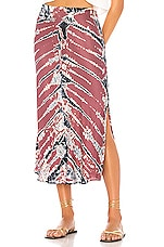 Young, Fabulous & Broke Felicity Skirt in Soft Plum Frame
