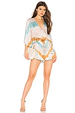 Young, Fabulous & Broke Ashby Romper in Teal Valley Wash