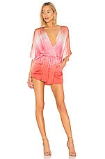 Young, Fabulous & Broke Ashby Romper in Hot Pink Ombre