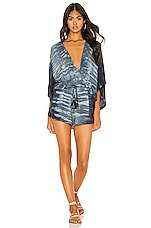 Young, Fabulous & Broke Ashley Romper in Teal Beam Wash