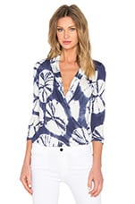 Getty Top en Navy Sanddollar Wash