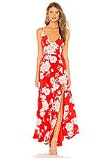 Yumi Kim Jasmine Maxi Dress in Sweet Jasmine Red