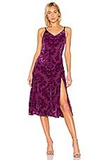 Yumi Kim Socialite Velvet Dress in Burgundy Velvet Burnout