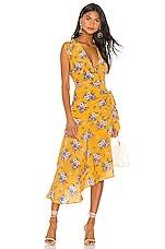 Yumi Kim Midtown Dress in Daisy Bouquet Marigold