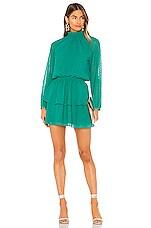 Yumi Kim Class Act Dress in Swiss Dot Jewel Emerald