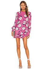 Yumi Kim Daphne Dress in Velvet Morning Hot Pink