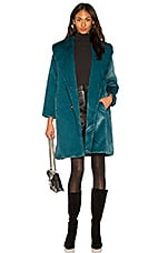 Yumi Kim Aspen Faux Fur Coat in Jewel Emerald