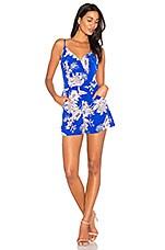 Yumi Kim Lea Romper in Tahiti Sunrise Royal Blue
