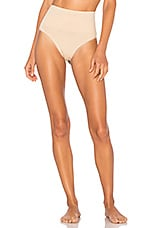 Yummie Seamlessly Shaped Ultralight Nylon Thong in Frappe