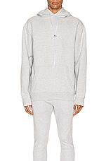 Zanerobe Lowgo Hood Sweater in Silver Marie