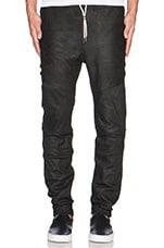 Leather Sureshot in Matt Black