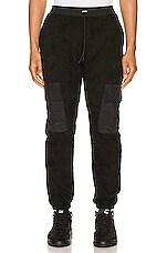 Zanerobe Jumpa Cargo Sherpa Jogger in Black