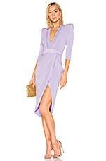 Zhivago Eye Of Horus Midi Dress in Lilac