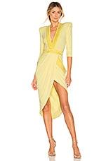 Zhivago Eye Of Horus Dress in Pastel Yellow