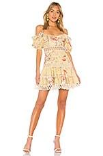 Zimmermann Melody Off Shoulder Dress in Mustard Floral
