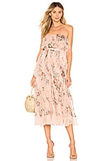 Zimmermann Bowie Waterfall Dress in Peach Floral