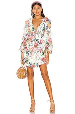 Zimmermann X REVOLVE Allia Frill Short Dress in White Floral
