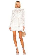 Zimmermann Veneto Perennial Short Dress in Ivory