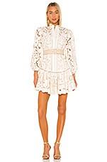 Zimmermann Edie Embroidery Short Dress in Ivory