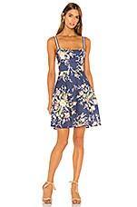 Zimmermann Zinnia Strap Mini Dress in Cobalt Floral