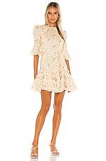 Zimmermann Freja Trim Flutter Dress in Cream Ditsy Floral