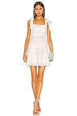Zimmermann Kirra Tie Shoulder Mini Dress in Ivory