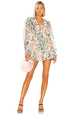 Zimmermann Verity Floating Romper in Cream Floral