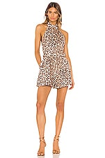 Zimmermann Bonita Halterneck Playsuit in Leopard