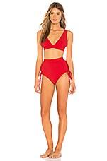 Zimmermann Castile Lace Up Bikini Set in Red