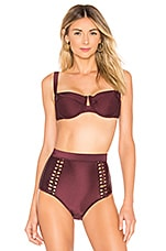 Zimmermann Juniper Underwire Bikini Top in Mulberry