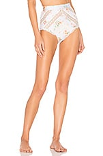 Zimmermann Heathers Pintuck Lace High Waist Bottom in Floating Bouquet