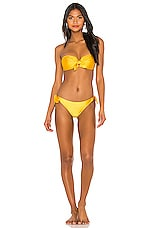 Zimmermann Allia Tie Bikini Set in Gold