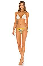 Zimmermann Zinnia Crochet Tri Bikini Set in Mismatched
