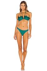 Zimmermann Freja Circular Frill Bikini Set in Jade