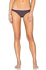 Skinny Pant Bikini Bottom in Aubergine