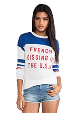 Zoe Karssen French Kissing Sweater in Optical Sweater