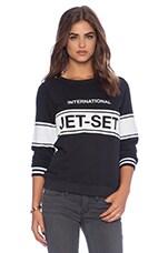 Zoe Karssen Jet Set Sweatshirt in Black