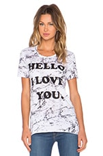 T-SHIRT COUPE LOOSE HELLO I LOVE YOU
