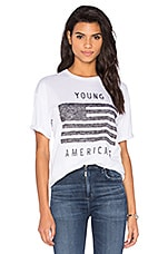 Zoe Karssen Young Americans Tee in Optic White