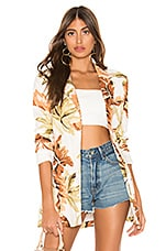 ZULU & ZEPHYR Dusk Leaf Jacket in Palm Leaf Print