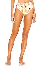 ZULU & ZEPHYR Dusk Leaf Bikini Bottom in Palm Leaf Print