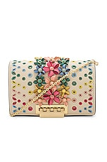 Zac Zac Posen Earthette Accordion Mini Chain Crossbody in Ivory Rainbow