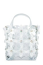 Zac Zac Posen Floral Bouquet Small Shopper in Clear