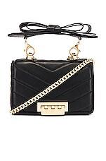 Zac Zac Posen Soft Earthette Mini Chain Shoulder Bag in Black