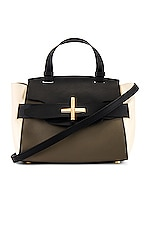 Zac Zac Posen Brigette Belted Satchel in Black