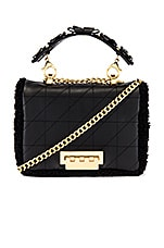 Zac Zac Posen Earthette Small Soft Chain Shoulder Bag in Black