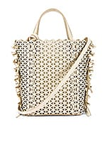 Zac Zac Posen Lacey Bow North & South Shopper Bag in Swan