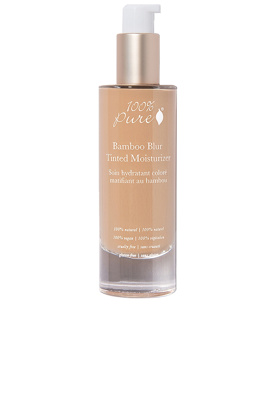 100% Pure Bamboo Blur Tinted Moisturizer in Toffee