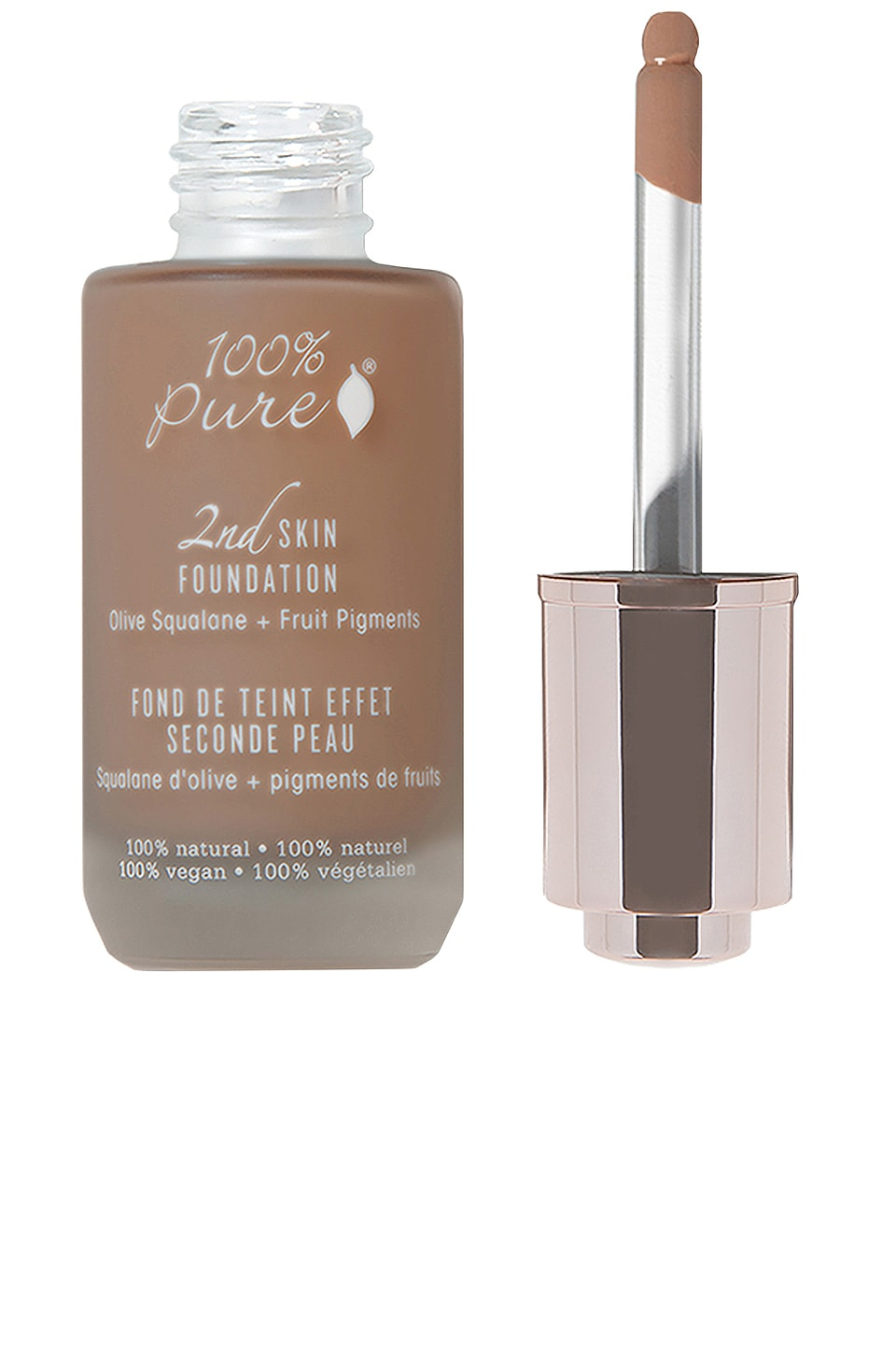 100% Pure 2nd Skin Foundation: Olive Squalene + Fruit Figments in Shade 7